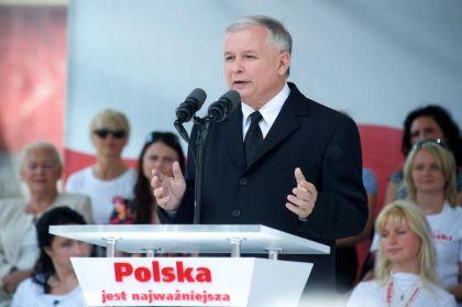 Jarosław Kaczyński na pikniku rodzinnym w Łodzi