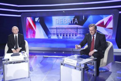 Jarosław Kaczyński wziął udział w debacie z Bronisławem Komorowskim