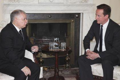 Jarosław Kaczyński spotkał się z Davidem Cameronem