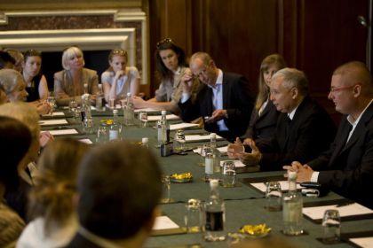 Jarosław Kaczyński spotkał się z Polonią w Londynie
